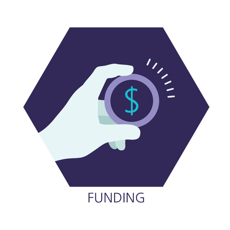 refinancing: Funding flat icon concept