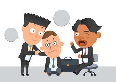 flat character: Business corporation team help concept flat character