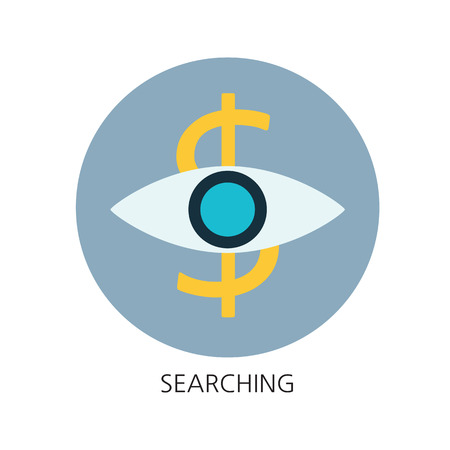 Searching flat icon concept