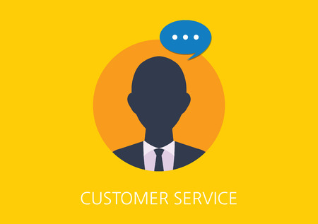 provide information: customer service concept flat icon Illustration