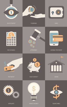 Finance and banking business concept Illustration