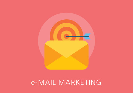 email symbol: email marketing concept flat icon