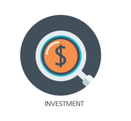 Investment flat icon concept