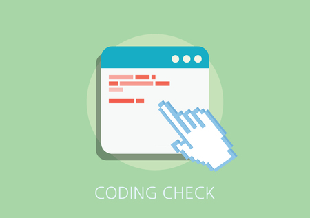 screenshot: coding check concept flat icon Illustration