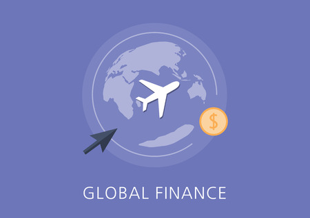 global finance: global finance concept flat icon