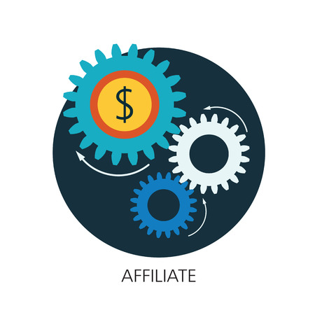 affiliate: Affiliate flat icon concept Illustration