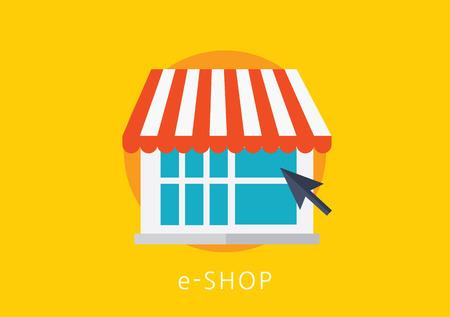 eshop: e-shop concept flat icon