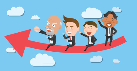 Business corporation teamwork concept flat character