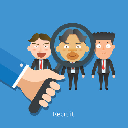 recruit: Business corporation recruit concept flat characters Illustration