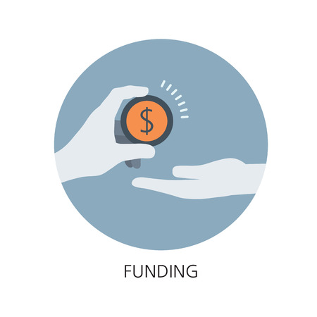 Funding flat icon concept