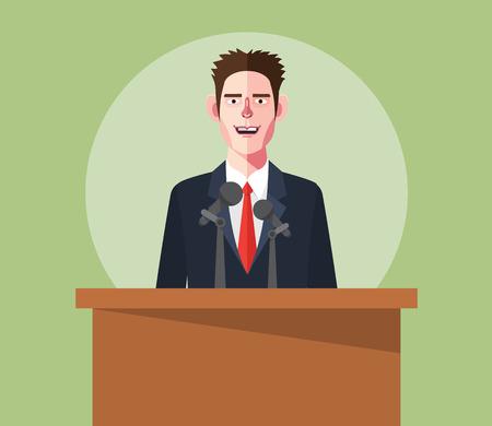 flat character: Flat character of presentation concept illustrations