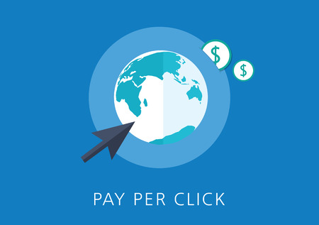 referral: pay per click concept flat icon Illustration