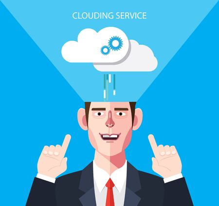 clouding: Flat character of clouding service concept illustrations