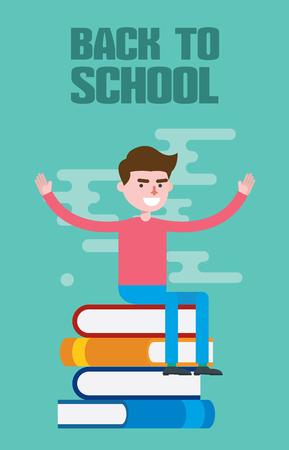 keywords adult: Modern design flat character education vector illustration