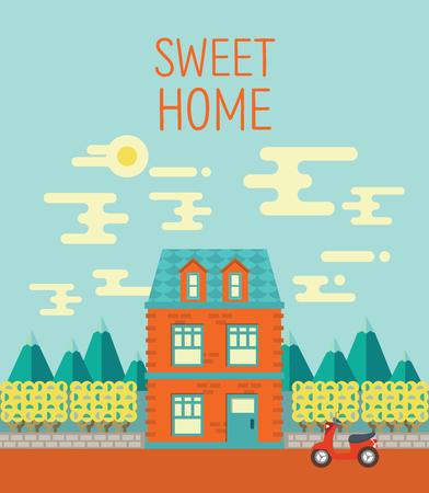yard sale: Sweet home vector illustration graphics