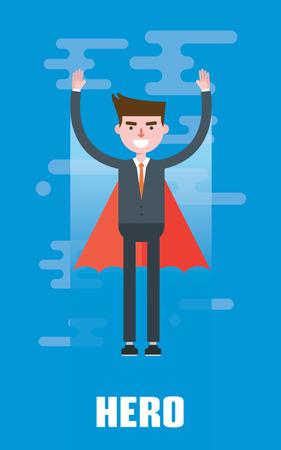 Modern design flat character hero vector illustration