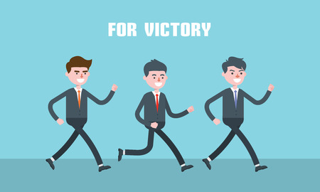 superiors: Modern design flat character victory vector illustration