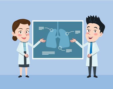 Drawing flat character design medical doctor concept, vector illustration