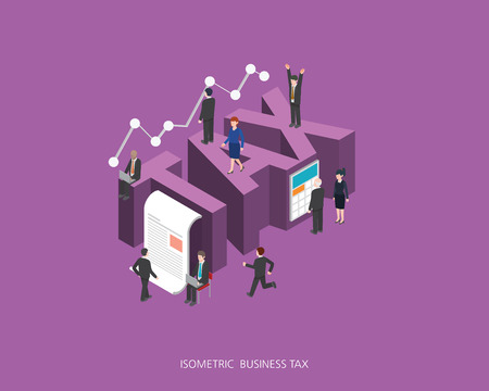 Flat 3d isometric vector illustration. Illustration