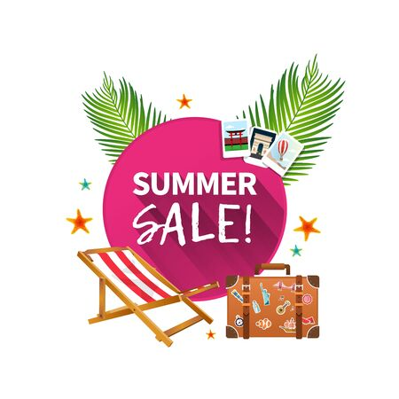 Summer holiday vacation cool sale concept,abstract vector illustration Çizim