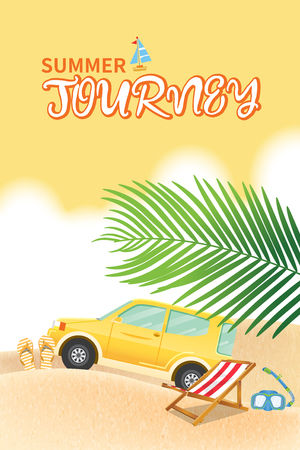 Summer holiday vacation concept, vector illustration Çizim