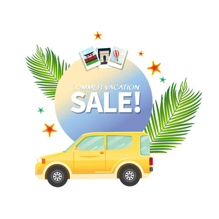 Summer holiday vacation cool sale concept, abstract vector illustration