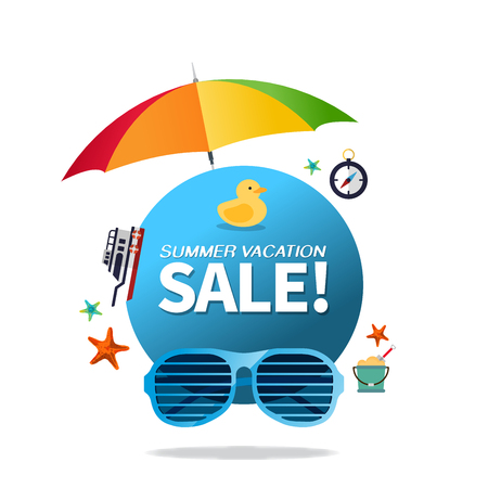 Summer holiday vacation cool sale concept,abstract vector illustration 일러스트