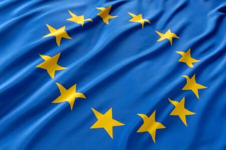 flagging: European flag Stock Photo