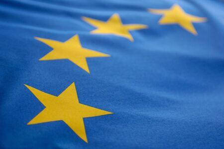flagging: Part of a european flag Stock Photo