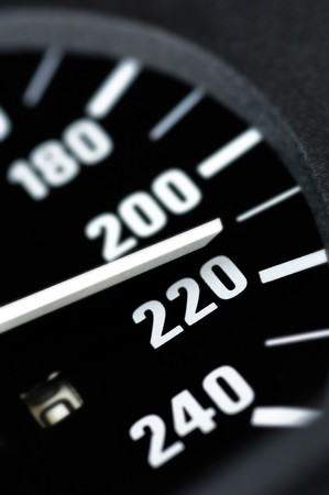 mountings: Speedometer of a car Stock Photo
