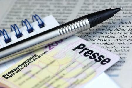 legitimize: Press card Stock Photo