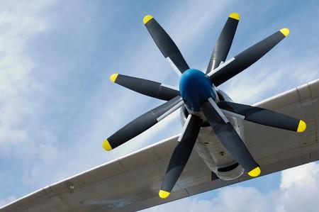 Rotor and turbine of an Antonov An-22 photo