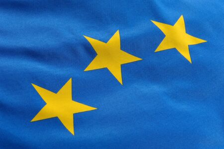 Part of a European flag with three stars Stock Photo - 7584505