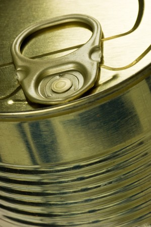 Aperture ring on a gold-colored tin photo