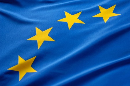 europeans: European flag Stock Photo