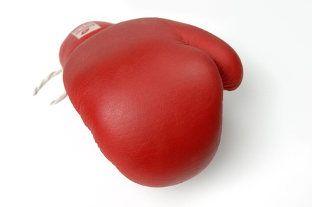 guantes de boxeo: Guante de boxeo rojo