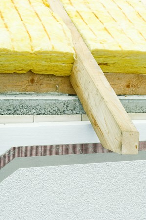 rockwool: Thermal insulation of a house roof