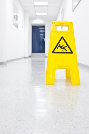 Warning sign slip hazard Stock Photo - 7584510