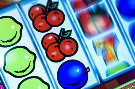 Ausschnitt eines Geldspielautomaten-Displays photo