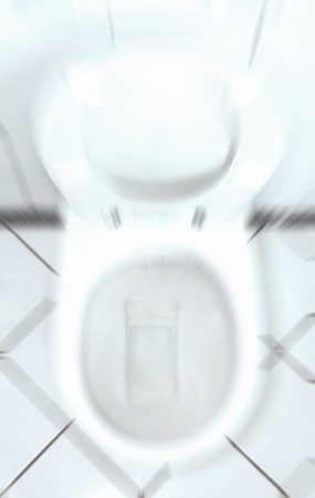 incontinence: White toilet bowl with open lid