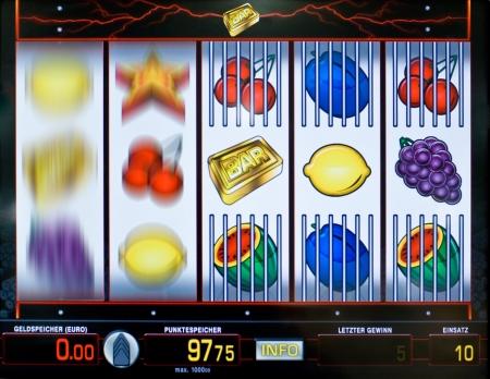 zahlen: Ausschnitt eines Geldspielautomaten-Displays
