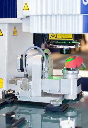 industrie: Bildverarbeitungsmessgerät Vision measuring system Stock Photo