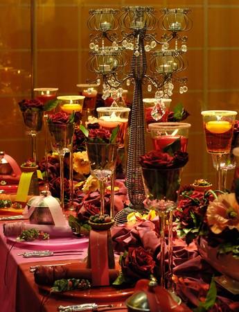tavolo da pranzo: Red decorato tavolo da pranzo
