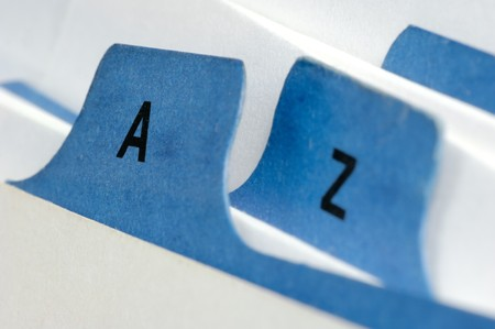 precedence: Blue file cards A and Z