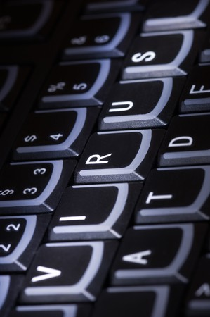 Keyboard with word Virus Stock Photo - 7708932