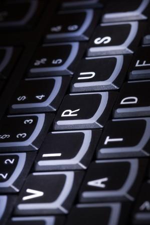 Keyboard with word Virus Stock Photo - 7708932