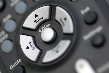 Enter and search buttons of a remote control photo