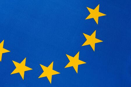 Part of a european flag with six yellow stars Stock Photo - 7764668