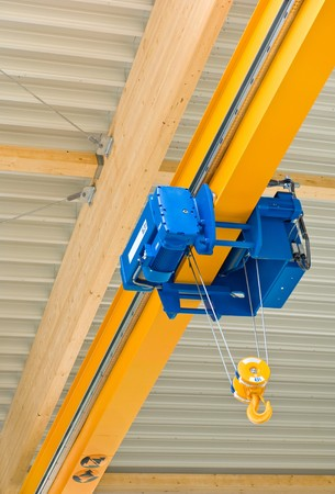 hook up: Hall crane Stock Photo