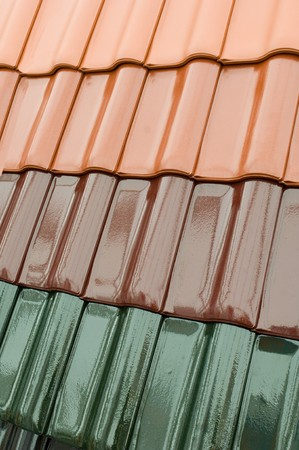 artisanry: Colour samples of roof pan tiles